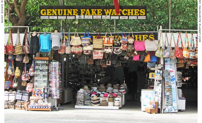 Genuine fake watches in Ephesus, Turkey at The Cheshire Cat Blog