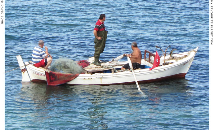 Three men in a boat, Ionian coast of Turkey at The Cheshire Cat Blog