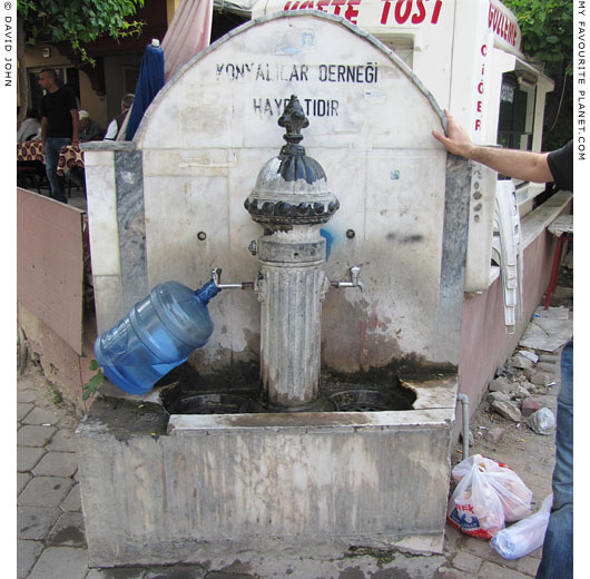 Public water fountain in Kusadasi, Turkey at The Cheshire Cat Blog