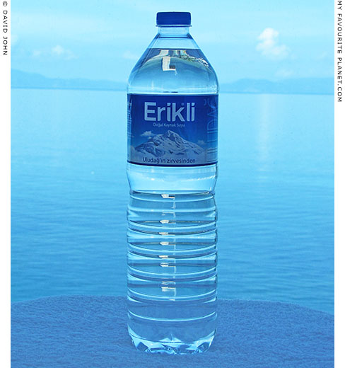 A bottle of Erikli Turkish mineral water at The Cheshire Cat Blog