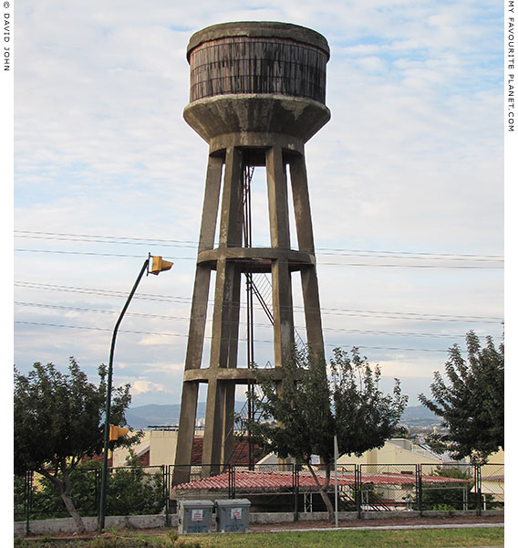 A water tower in the seaside village of Güzelcamli, Turkey at The Cheshire Cat Blog