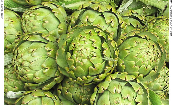 Artichokes in Selcuk market, Turkey at The Cheshire Cat Blog