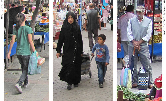 Shopping at the speed of light in Selcuk market, Turkey at The Cheshire Cat Blog