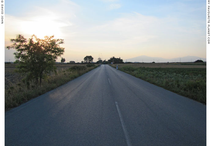 A stretch of the former E86  Via Egnatia highway leading to the Pella Archaeological site at The Cheshire Cat Blog