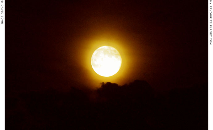 The splendid moon over Pella at The Cheshire Cat Blog