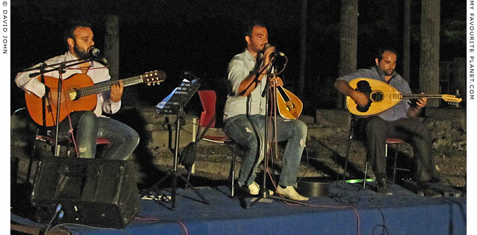 Traditional Cretan music at Pella, Greece at The Cheshire Cat Blog