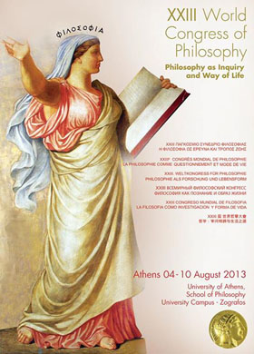 Poster for the 23rd World Congress of Philosophy in Athens