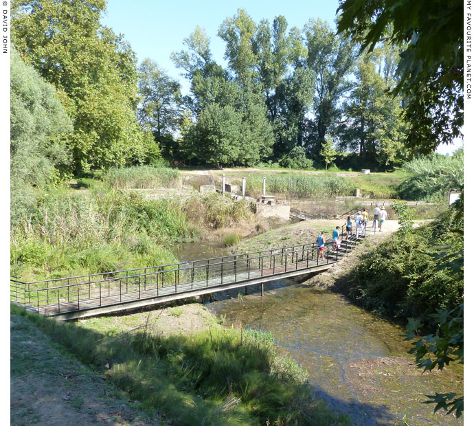 The footbridge to the sanctuary of Zeus Hypsistos, Dion Archaeological Park, Macedonia at The Cheshire Cat Blog