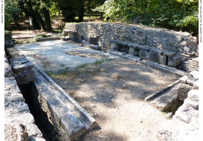 The eastern latrine in Dion Archaeological Park at The Cheshire Cat Blog