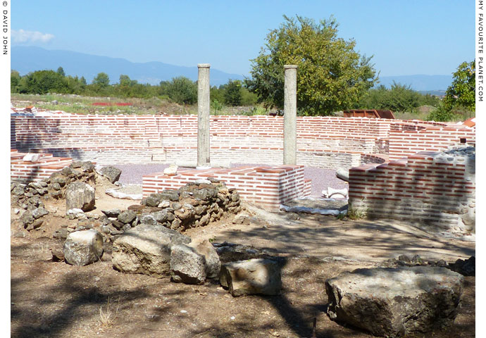 The odeion of the Great Baths complex, Dion Archaeological Park at The Cheshire Cat Blog