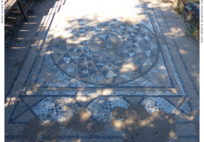 Large floor mosaic in the Great Baths complex, Dion Archaeological Park at The Cheshire Cat Blog