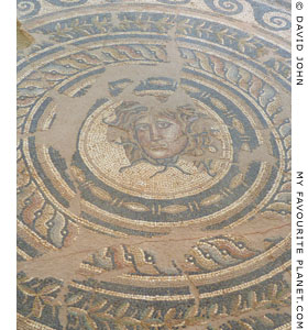 The Medusa mosaic from the Villa of Dionysos, Dion, Macedonia, Greece at The Cheshire Cat Blog