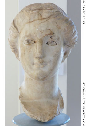 Head of Nike, Dion Archaeological Museum, Macedonia, Greece at The Cheshire Cat Blog