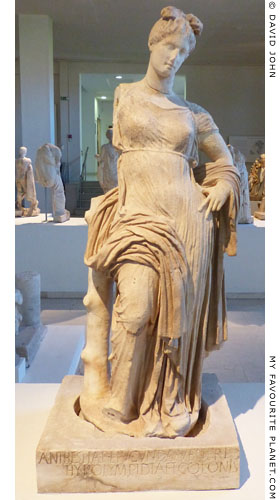 Statue of Aphrodite Hypolympiada, Dion Archaeological Museum at The Cheshire Cat Blog