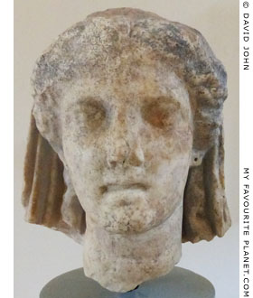 Head of Demeter from the sanctuary of Demeter, Dion, Macedonia, Greece at The Cheshire Cat Blog
