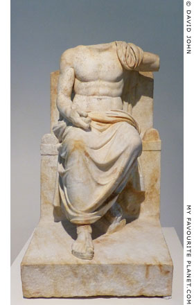 Statue of Zeus Hypsistos in Dion Archaeological Museum at The Cheshire Cat Blog