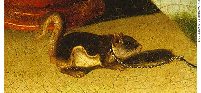 A squirrel in chains at The Cheshire Cat Blog