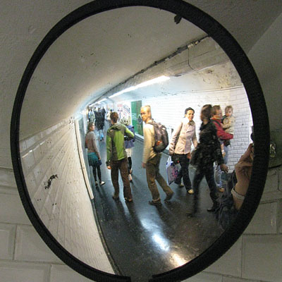 Mirror in the Paris Metro at My Favourite Planet