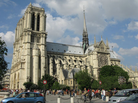 Notre Dame Cathedral from the Latin Quarter, Paris at My Favourite Planet