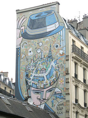 Mural near Gare Magenta, Paris at My Favourite Planet