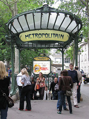 Abbesses Metro station, Paris at My Favourite Planet