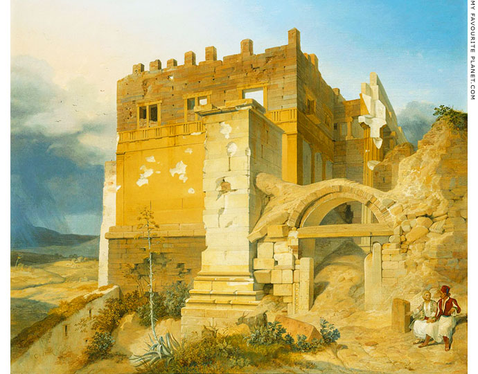The Propylaea and the Pedestal of Agrippa, Acropolis, Athens by Carl Wilhelm von Heideck