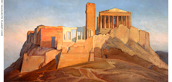The Acropolis in the 1840s by Ingres at My Favourite Planet