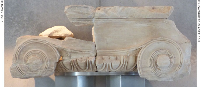 An Ionic capital from the central entrance of the Propylaia at My Favourite Planet