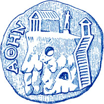 Athenian coin showing the north side of the Acropolis, Athens, Greece at My Favourite Planet