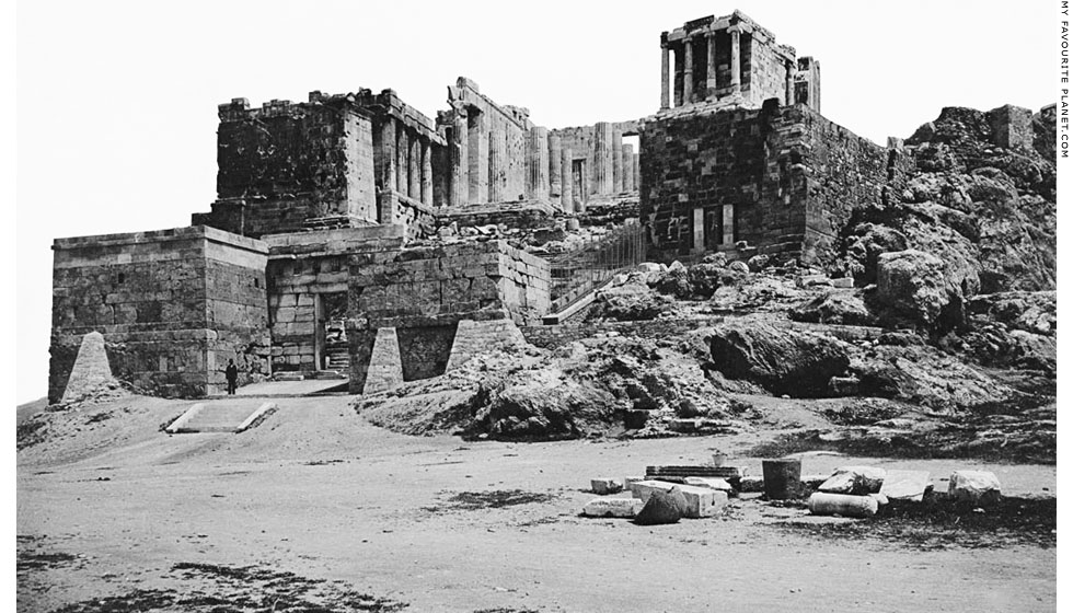 The Propylaia of the Athens Acropolis in 1893 at My Favourite Planet