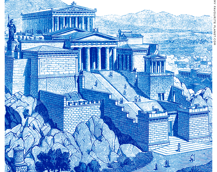 Reconstruction of the entrance to the Athenian Acropolis by Friedrich von Thiersch at My Favourite Planet