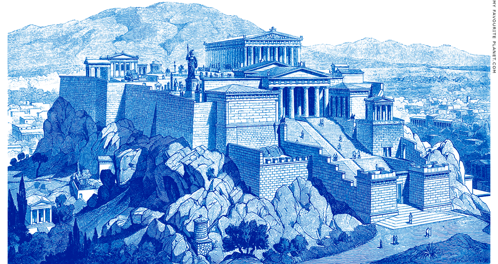 Reconstruction of the Acropolis, Athens at My Favourite Planet