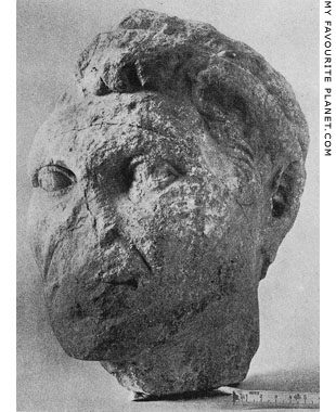 A marble head, perhaps a portrait of Ariobarzanes II of Cappadocia at My Favourite Planet