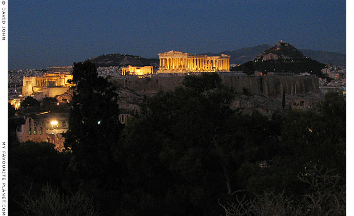 The Acropolis at night, Athens, Greece at My Favourite Planet