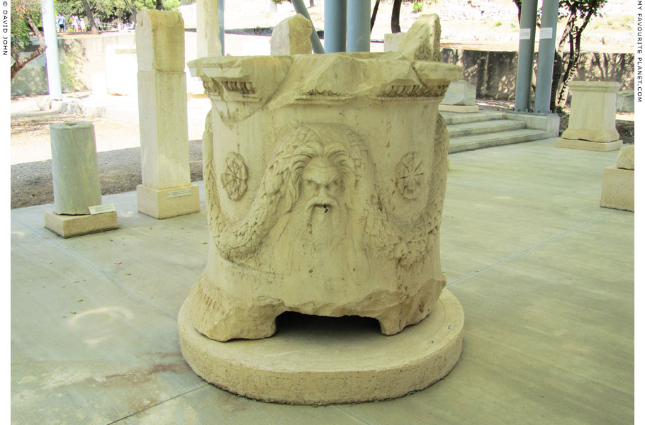 An altar from the Sanctuary of Dionysos Eleuthereos at My Favourite Planet