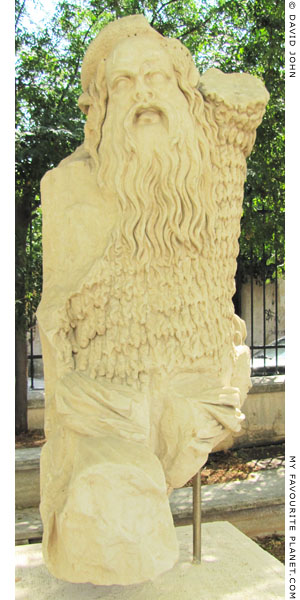 Marble statue of a Papposilenos, Theatre of Dionysos, Athens at My Favourite Planet