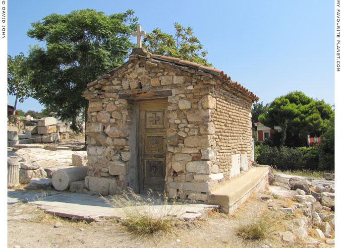 The chapel of Saint George Alexandrinos below the Choragic Monument of Thrasyllos at My Favourite Planet