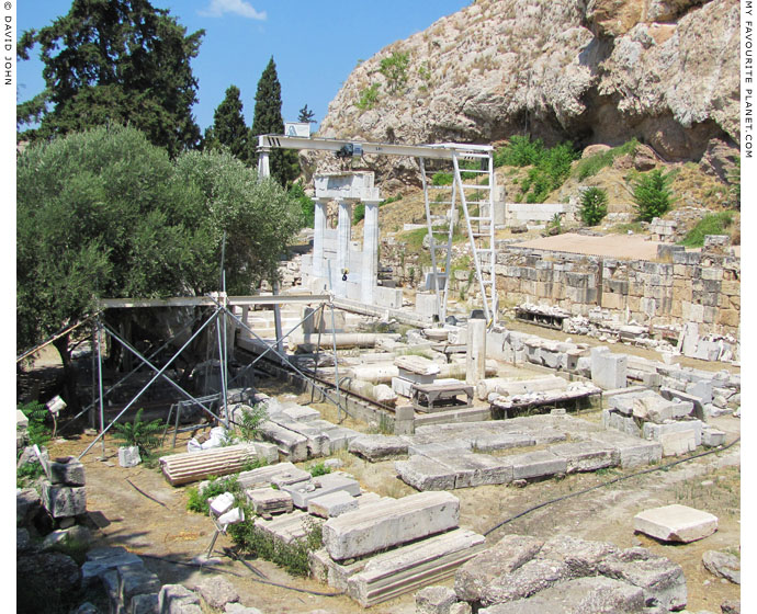 The Athens Asklepieion in 2013 during restoration at My Favourite Planet