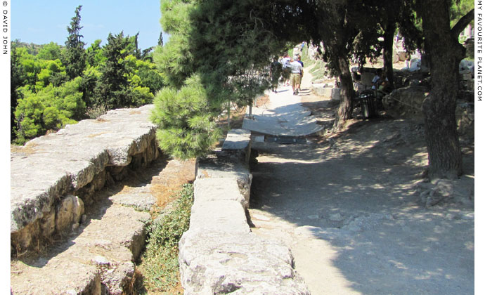 The Peripatos behind the Stoa of Eumenes, Acropolis, Athens, Greece at My Favourite Planet