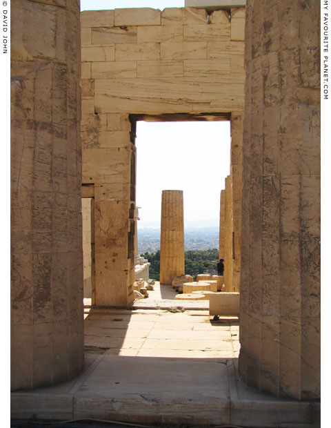 The view westwards from within the Propylaia to the Saronic Gulf, Greece at My Favourite Planet