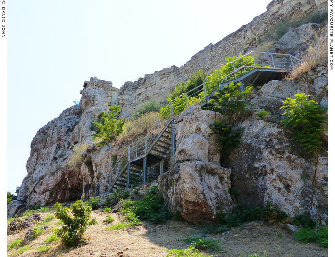 The stairway up to the Acropolis cave sanctuaries at My Favourite Planet
