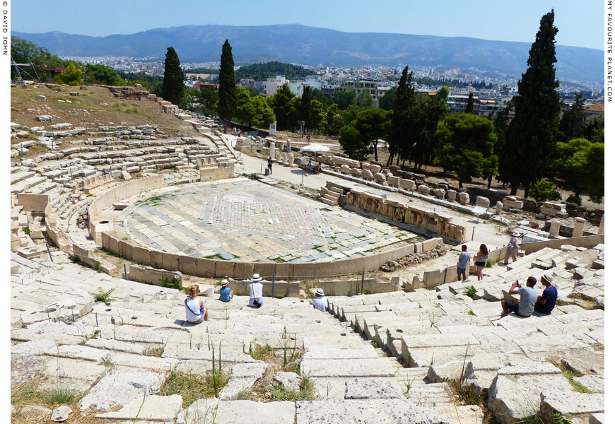 Cavea and stage of the Theatre of Dionysos at My Favourite Planet