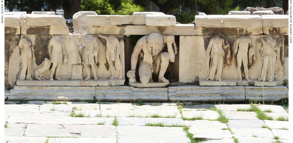Reliefs on the hyposkenion of the Theatre of Dionysos at My Favourite Planet
