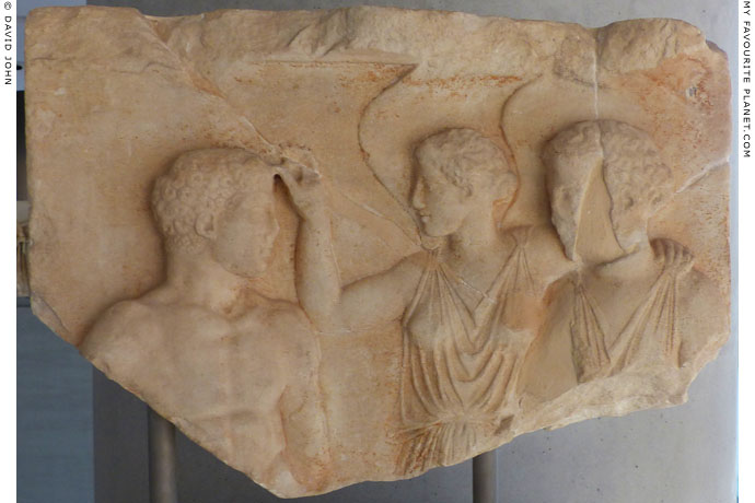 Relief of Athena, Nike and Herakles from the Athenian Acropolis at My Favourite Planet