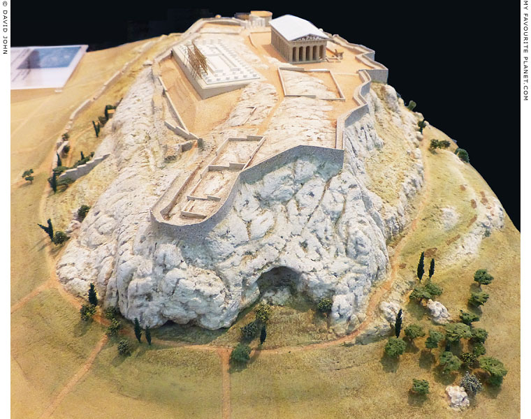 Acropolis model, east side at My Favourite Planet