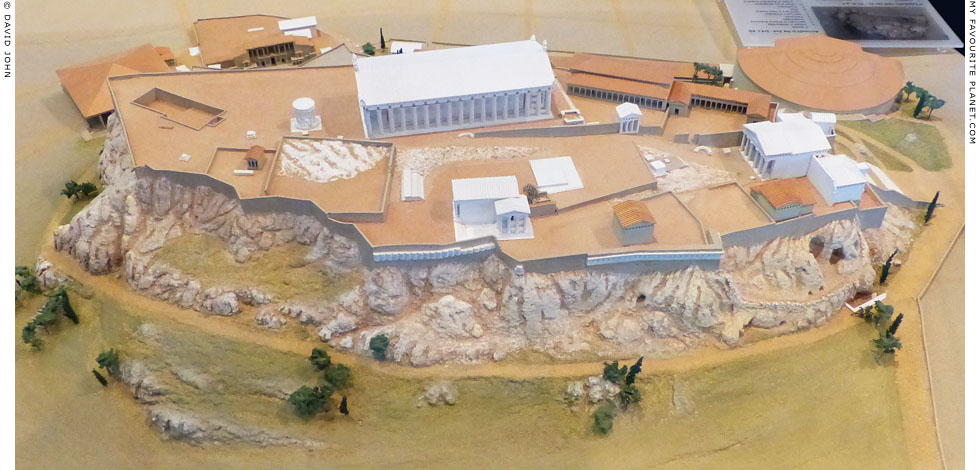 Model of the Acropolis in in the 2nd - 3rd century AD at My Favourite Planet