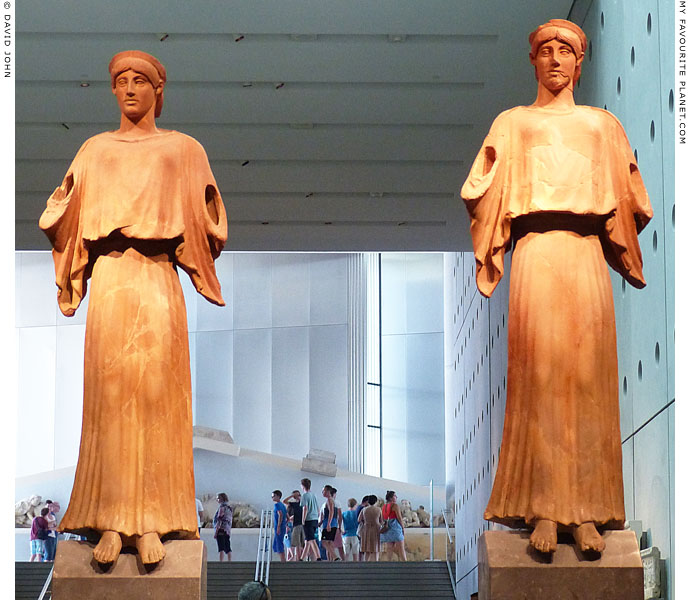 Two terracotta Nikes (or Nikai) from the South Slope of the Acropolis at My Favourite Planet