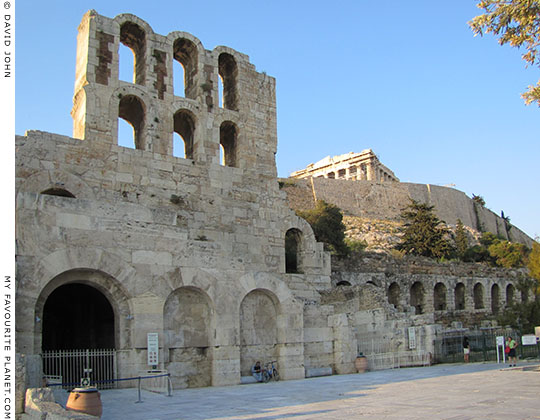 The Odeion of Herodes Atticus and the Stoa of Eumenes, Athens, Greece at My Favourite Planet