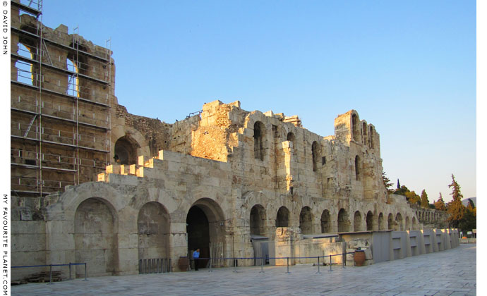 The facade of the Odeion of Herodes Atticus, Athens, Greece at My Favourite Planet