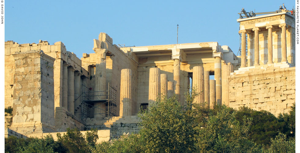 The central gateway of the Propylaia, Acropolis, Athens, Greece at My Favourite Planet